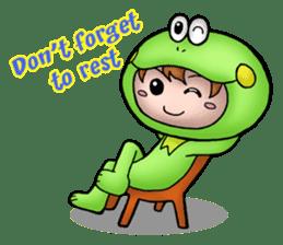 Mog the Frog Boy sticker #14008067