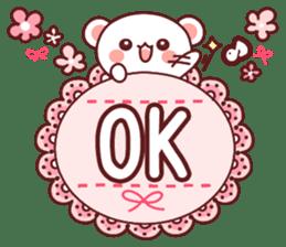 Fluffy Bear Sweet 40set sticker #14014152