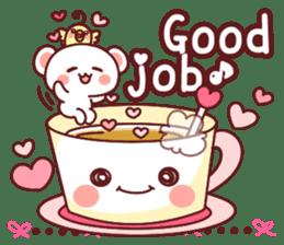Fluffy Bear Sweet 40set sticker #14014153