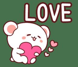 Fluffy Bear Sweet 40set sticker #14014160