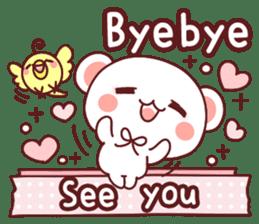 Fluffy Bear Sweet 40set sticker #14014168