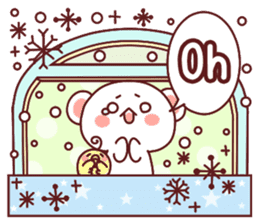 Fluffy Bear Sweet 40set sticker #14014176