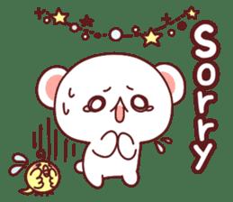Fluffy Bear Sweet 40set sticker #14014180
