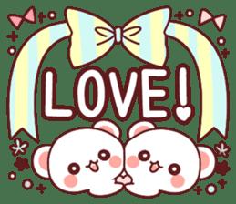 Fluffy Bear Sweet 40set sticker #14014187
