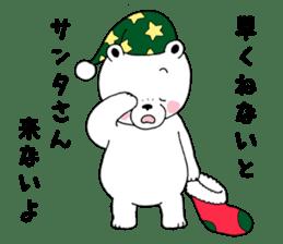 White bear Polvo Christmas version sticker #14071271