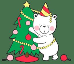 White bear Polvo Christmas version sticker #14071272