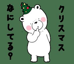 White bear Polvo Christmas version sticker #14071273