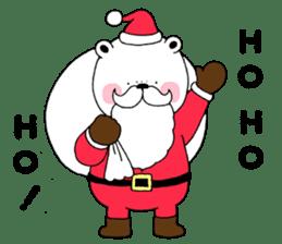 White bear Polvo Christmas version sticker #14071275