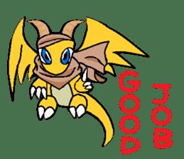 Cute Demon Dragon - Toby sticker #14074467