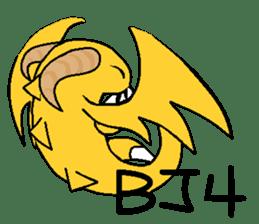 Cute Demon Dragon - Toby sticker #14074473
