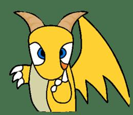 Cute Demon Dragon - Toby sticker #14074475