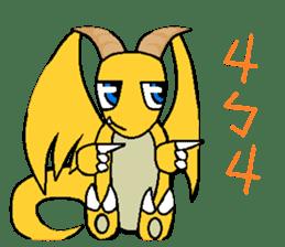 Cute Demon Dragon - Toby sticker #14074477