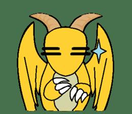 Cute Demon Dragon - Toby sticker #14074478