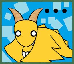 Cute Demon Dragon - Toby sticker #14074479