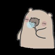 สติ๊กเกอร์ไลน์ คุณหมีกับเจ้าเหมียว : ไม่บอกก็รู้ว่ารัก