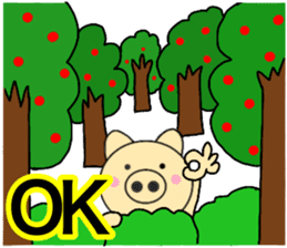 pig that can be uaed12 sticker #14091419