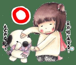 Red Cloak and Little Steamed Bun 2 sticker #14095463