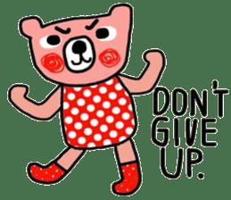 Polka Bear ; Creative Bear sticker #14096920