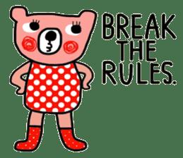 Polka Bear ; Creative Bear sticker #14096925