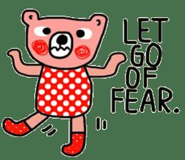 Polka Bear ; Creative Bear sticker #14096926