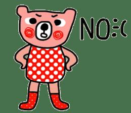 Polka Bear ; Creative Bear sticker #14096929