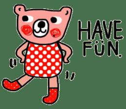 Polka Bear ; Creative Bear sticker #14096930