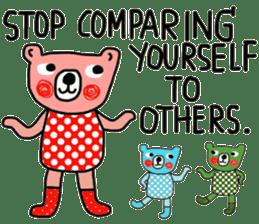 Polka Bear ; Creative Bear sticker #14096931