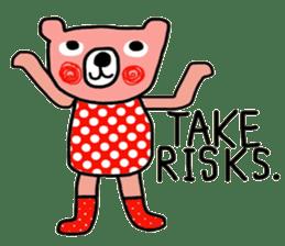 Polka Bear ; Creative Bear sticker #14096933