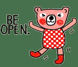 Polka Bear ; Creative Bear sticker #14096934
