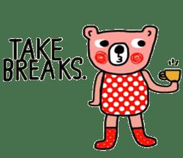 Polka Bear ; Creative Bear sticker #14096935