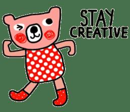 Polka Bear ; Creative Bear sticker #14096936