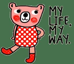 Polka Bear ; Creative Bear sticker #14096938