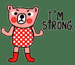 Polka Bear ; Creative Bear sticker #14096939