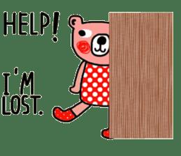 Polka Bear ; Creative Bear sticker #14096940