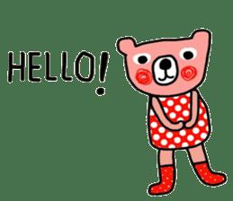Polka Bear ; Creative Bear sticker #14096942