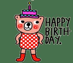 Polka Bear ; Creative Bear sticker #14096943