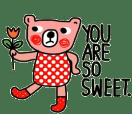 Polka Bear ; Creative Bear sticker #14096944