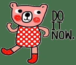 Polka Bear ; Creative Bear sticker #14096945