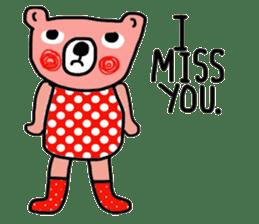 Polka Bear ; Creative Bear sticker #14096946