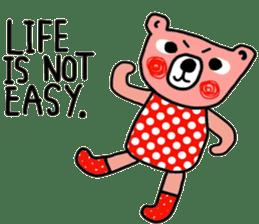 Polka Bear ; Creative Bear sticker #14096947