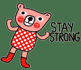 Polka Bear ; Creative Bear sticker #14096948