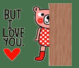 Polka Bear ; Creative Bear sticker #14096949