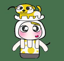 Mr. Yamada . I love dog.^_^ sticker #14099698