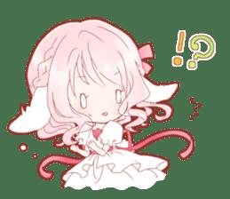Macaron of a lop-eared rabbit sticker #14105501