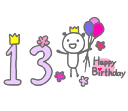 Birthday Card From 1 To 40 Years Old Sticker 14110610