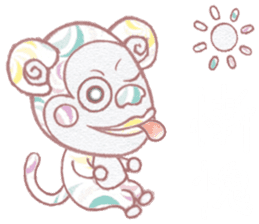 Cute monkey 1 Chinese (Traditional) sticker #14113971