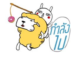 Jay the Rabbit X Shewsheep Happy Duo sticker #14117779