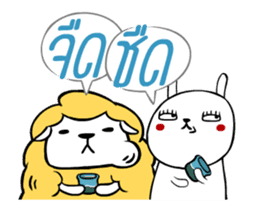 Jay the Rabbit X Shewsheep Happy Duo sticker #14117780