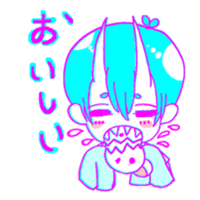Devil boy and friends sticker #14123129
