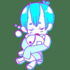Devil boy and friends sticker #14123135